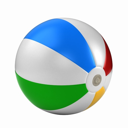 3d ball: 3d render of a beach ball