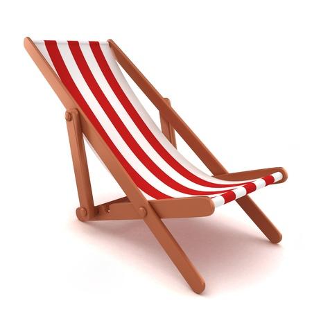 beach chair: 3d render of a beach chair