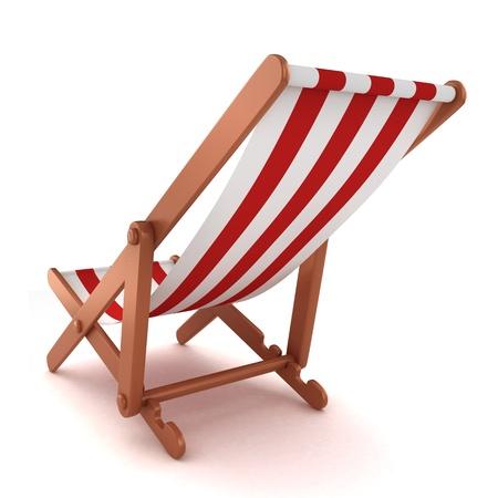 strandstoel: 3D render van een strandstoel Stockfoto