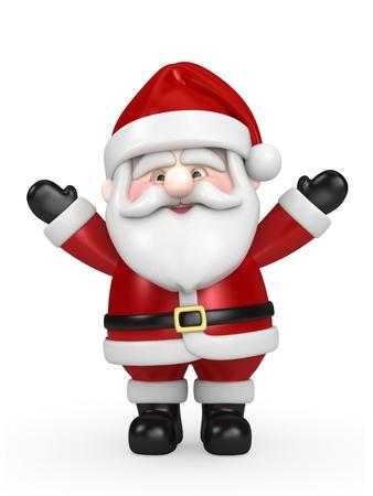 3d render of Santa Claus