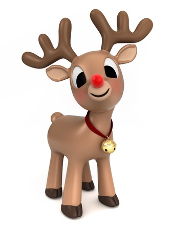 3d render of a christmas reindeer 版權商用圖片