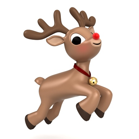 3d render of a christmas reindeer flying Stock Photo - 15632769