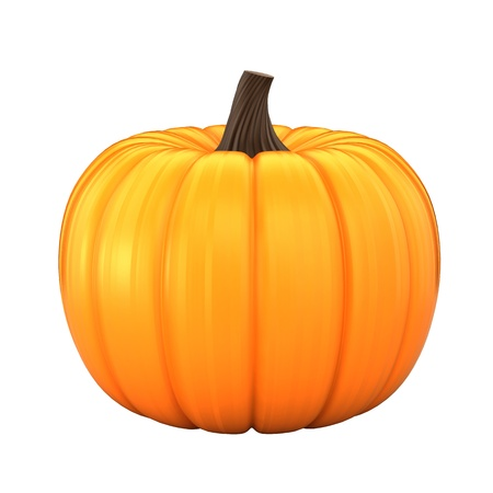 3d render of a pumpkin photo