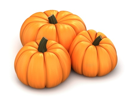 3d render of pumpkins photo