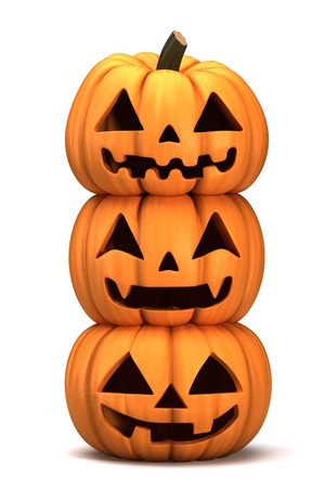 3d render of stacked Jack 0 Lanterns photo
