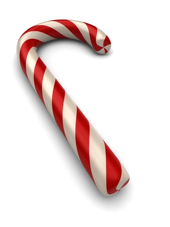 3d render of a candy cane photo