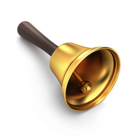 handbell: 3d render of a handbell Stock Photo