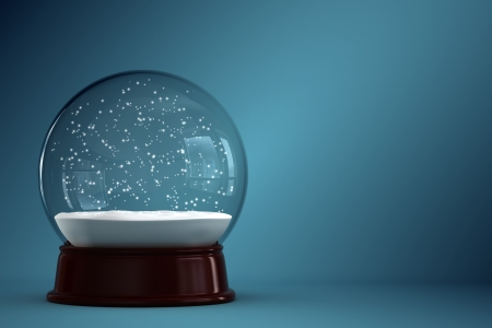 snow globe: 3d render of empty snow globe