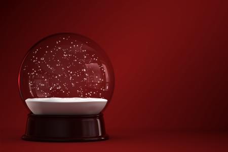 neige noel: Rendu 3D de globe de neige vide Banque d'images