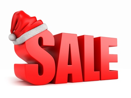 3d render of3d render of the word SALE with santa hat Stock Photo - 15783655