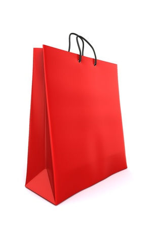 3d render of a red shopping bag Stock Photo - 17550624