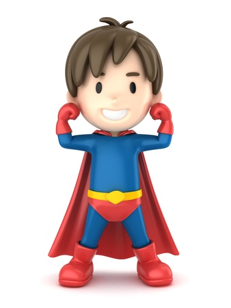 3d render of a superhero boy Stock Photo