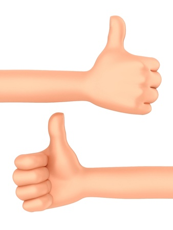 3d render of a hand with thumbs up Stock Photo - 21397522