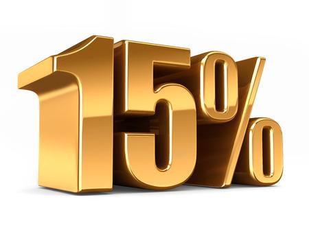 3D-Darstellung von Gold 15 Prozent machen Standard-Bild - 29763176