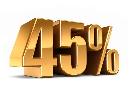 3D-Darstellung von Gold 45 Prozent machen Standard-Bild - 29763182
