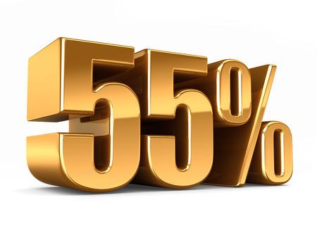 3d render of a Gold 55 percent photo