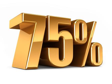 3D-Darstellung von Gold 75 Prozent machen Standard-Bild - 29763266