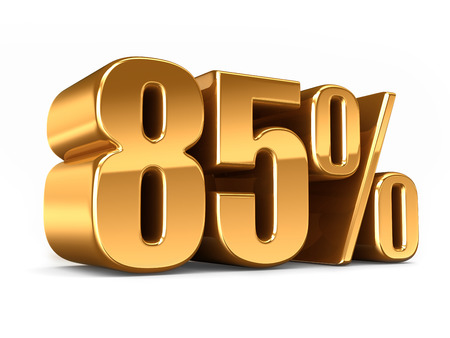 3D-Darstellung von Gold 85 Prozent machen Standard-Bild - 29763268