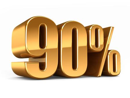 3D-Darstellung von Gold 90 Prozent machen Standard-Bild - 29763269