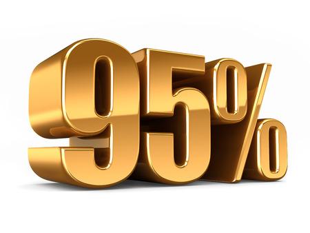 3D-Darstellung von Gold 95 Prozent machen Standard-Bild - 29763270