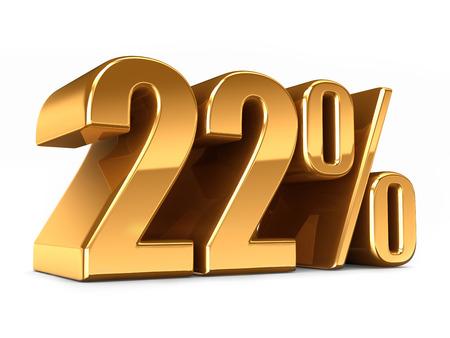 3D-Darstellung von Gold 22 Prozent machen Standard-Bild - 29763273
