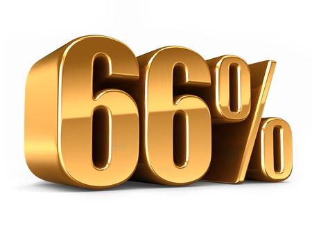 3D-Darstellung von Gold 66 Prozent machen Standard-Bild - 29763276