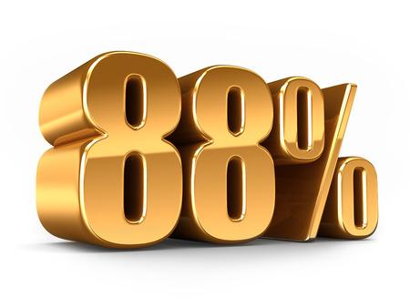 3D-Darstellung von Gold 88 Prozent machen Standard-Bild - 29763278