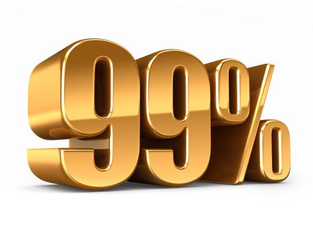 3d render of a Gold 99 percent Stock Photo