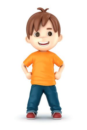 3D übertragen von einem glücklichen Jungen machen Standard-Bild - 32013924