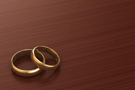 Ein Paar Goldhochzeitsringe Standard-Bild - 32712556