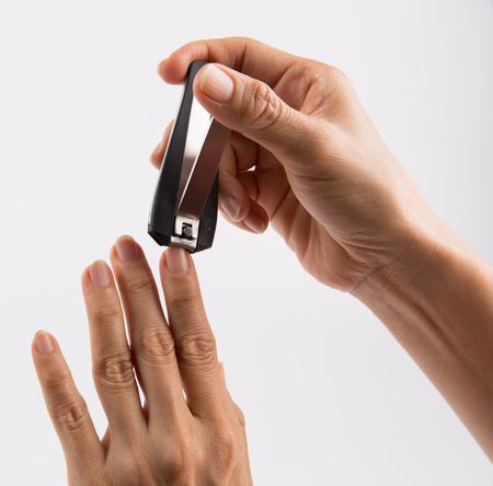 nail clipper: Using nail clipper