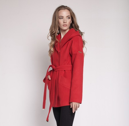 color model: Fashion model in color clothes