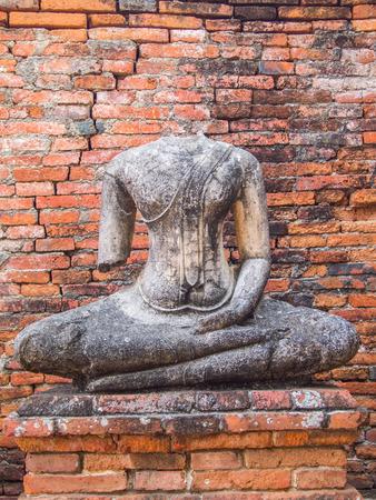 budda: Budda statue at Old Temple Ancient AyuttayaThailand
