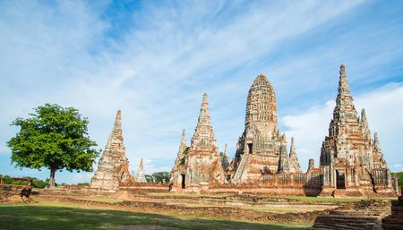 the world heritage: world heritage thai is the most purpose of tourism at Phra Nakon Si Ayutthaya Thailand Stock Photo