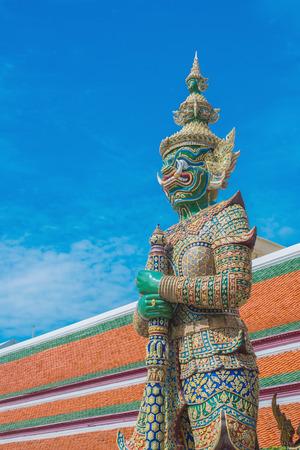 grand pa: Demon Guardian Wat Phra Kaew Grand Palace Temple of the Emerald BuddhaBangkok THAILAND