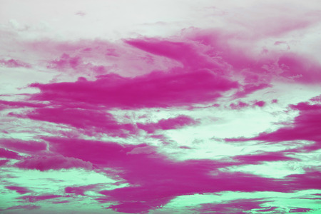 pink sunset: Dramatic pink sunset sky with clouds