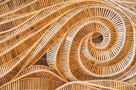 wicker bar: modern style pattern nature background of wave brown handicraft weave texture