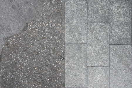 abstract symbol idea, Experience the difference, cement floor texture for background.