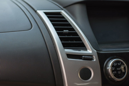 Abrasions of the air vehicle, Car air conditioning system. Auto interior detail. Stock fotó