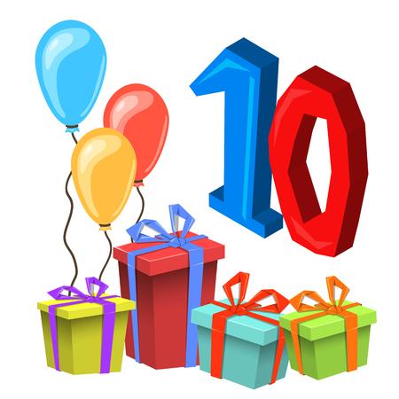 Birthday Anniversary Numbers. Birthday Party Invitation Card Template