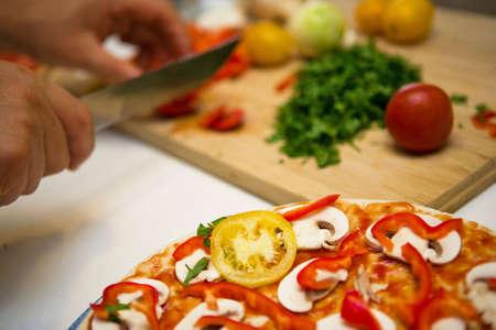 Preparing pizza Stock Photo - 5670505