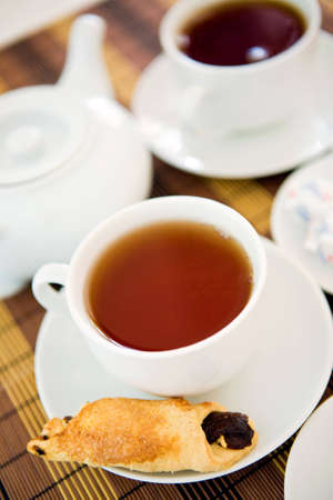 Cup of tea with biscuits Stock Photo - 10255710