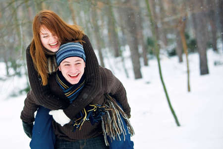 Couple in love photo