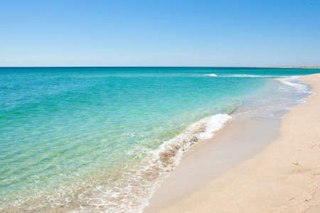 Beautiful view of the coast and the beach Standard-Bild