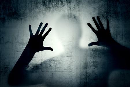 esquizofrenia: Miedo Foto de archivo