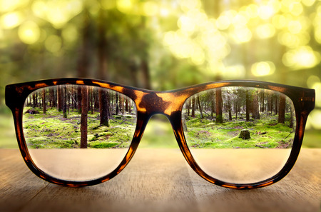 nearsighted: Glasses Stock Photo