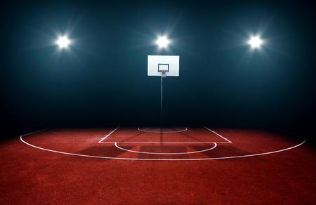 cancha de basquetbol: Cancha de baloncesto Foto de archivo