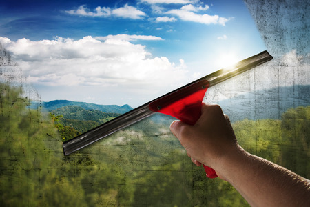 Saubere Fenster