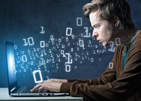 geek: Hacker Stock Photo