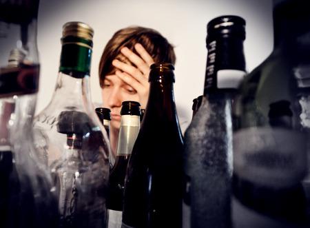 Les problèmes d'alcool Banque d'images